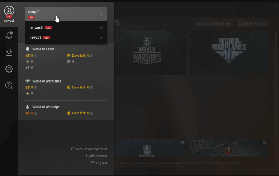 Updates to the Wargaming Game Center
