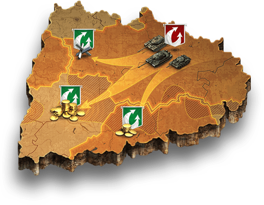 Clan wars — clan battles, World of Tanks Global Map, descriptions ...